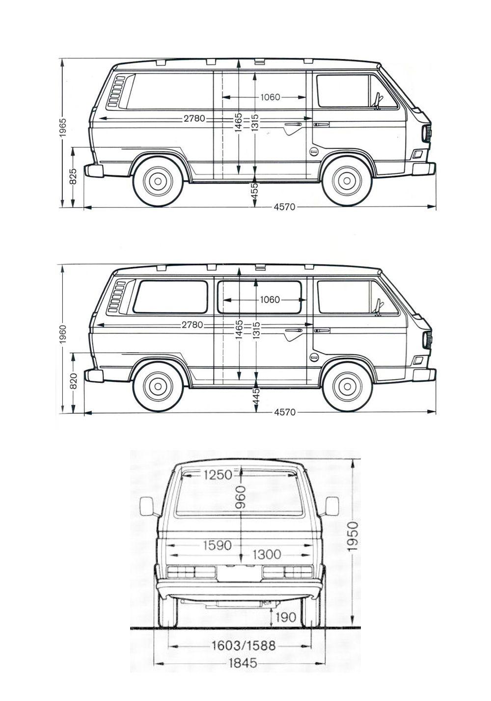 Medidas Volkswagen T3