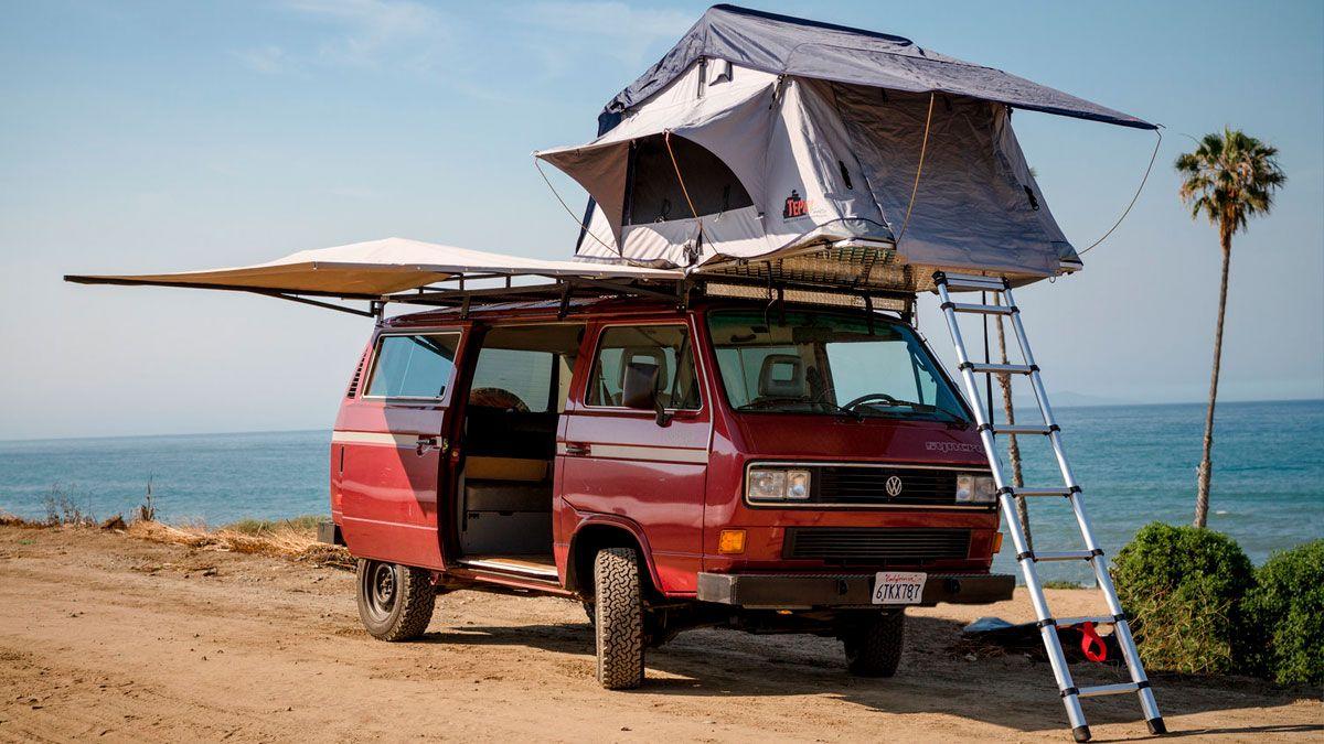 Tienda de techo en VW T3